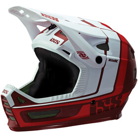 IXS Xult Fullface-kypärä, night red/white